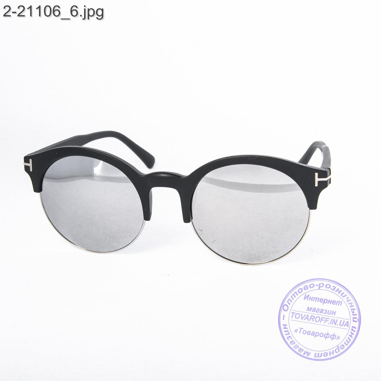 Сонцезахисні окуляри унісекс - чорні дзеркальні -2-21106