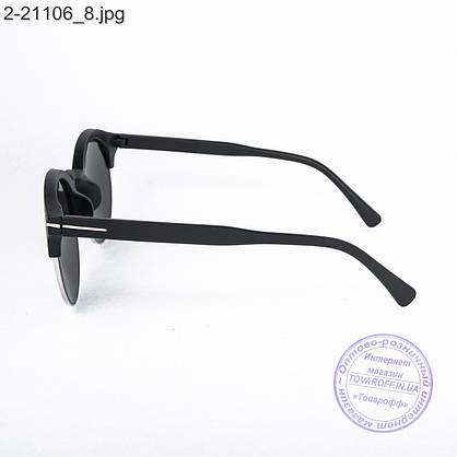 Сонцезахисні окуляри унісекс - чорні дзеркальні -2-21106, фото 3