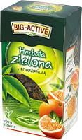 Зеленый чай с кусочками  апельсина Big-Active Herbata zielona 100 гр