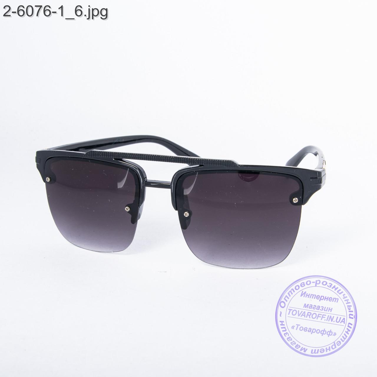 Солнцезащитные очки унисекс - черные - 2-6076-1