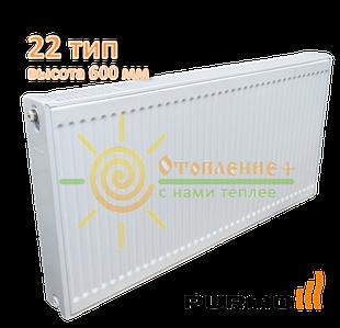 Радиатор стальной Purmo 22 тип 600х400 боковое подключение
