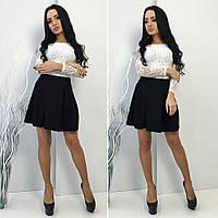 Костюм женский юбочный, ткань Гипюр, подкладка, тафта, цвет только такой фото реал ля №флокс
