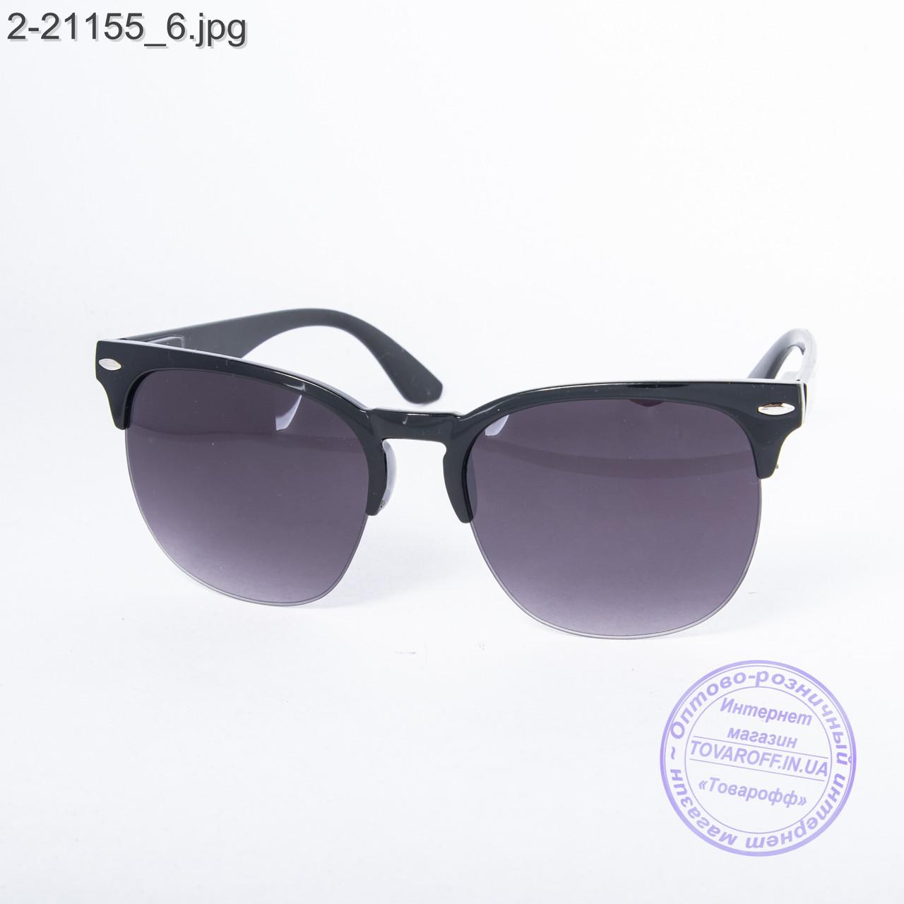 Солнцезащитные очки унисекс - черные - 2-21155