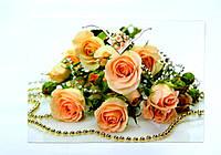 Подарочный пакет 44,5х31х14,5см Букет роз и бусы
