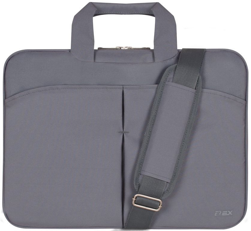 """Серая сумка для ноутбука 15,6-16"""" D-LEX LX-050R-GY"""