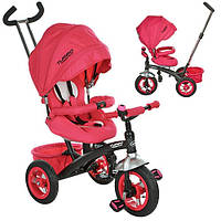 Детский трехколесный велосипед с ручкой Turbo Trike M 3195-1А (Розовый)