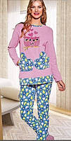 Пижама женская велюровая Совушка