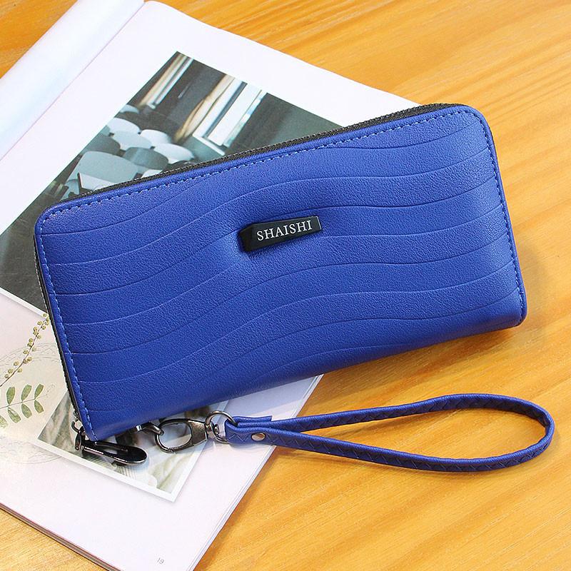 Женский большой кошелек на молнии Shaishi синий