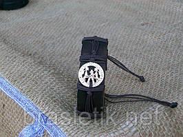 Кожаный браслет БЛИЗНЕЦЫ на руку, ручная работа, ювелирная бижутерия