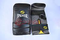 """Снарядные боксерские перчатки, модель """"Everlast"""". Размер М. Черные."""