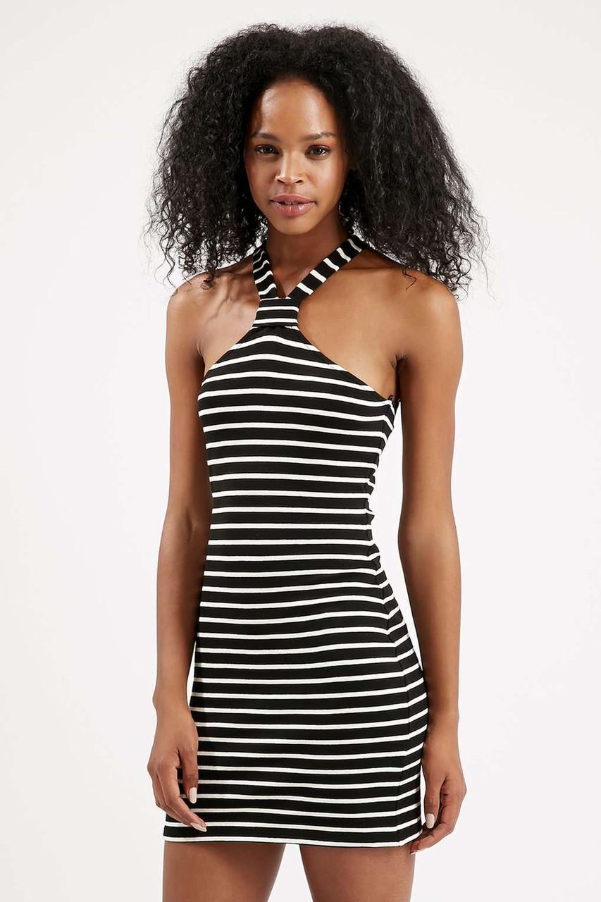 Новое облегающее платье в полоску Topshop