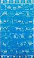 Пляжное полотенце TESSILCASA SKULLS (голубое)