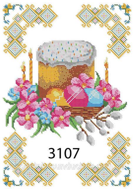 Салфетка пасхальная под вышивку ТМ Дана Пасха 3107