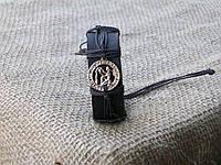 Кожаный браслет на руку ВОДОЛЕЙ, ручная работа, ювелирная бижутерия