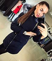 Женское зимнее кашемировое пальто в двух цветах. Размер 42-48. Материал кашемир, мех.