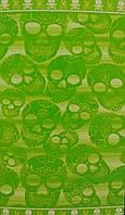 Пляжное полотенца TESSILCASA SKULLS (зеленый)