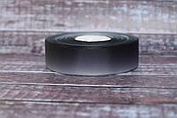 """Репсова стрічка градієнт 2.5 см """"Омбре чорний + сірий"""" оптом, фото 1"""