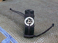 Кожаный браслет на руку КОЗЕРОГ, ручная работа, ювелирная бижутерия