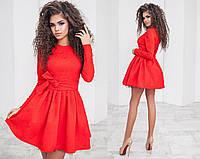 Платье fit & flare жаккард с поясом 1092 (НИН55)
