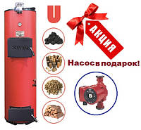 Универсальный твердотопливный котел Swag 50Us мощностью 50 кВт