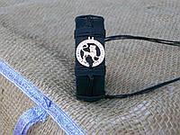 Кожаный браслет на руку ЛЕВ, ручная работа, ювелирная бижутерия