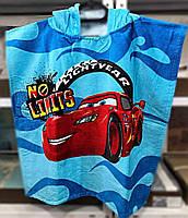 Детское пляжное полотенце-пончо