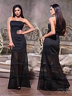 Платье годе в пол с прозрачными вставками 5093 (НИН53)