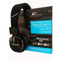 Беспроводные Bluetooth наушники ATLANFA 7611 Black