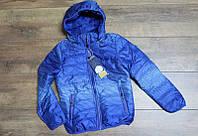 Весенняя куртка на синтепоне для мальчиков 8 лет Цвет:черный, синий, серый