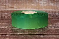 """Лента репсовая градиент 2.5 см """"Омбре зеленый + светло-зеленый """" оптом"""