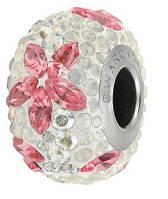 Бусины для браслетов Пандора от Swarovski 82093 Light Rose