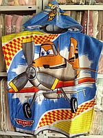 Детское пляжное полотенце пончо для мальчиков