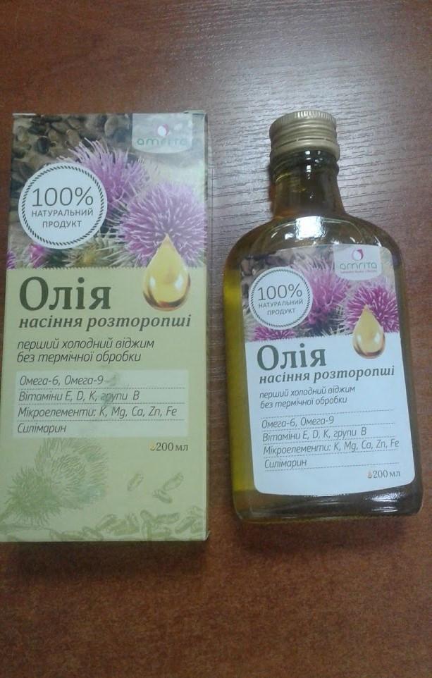 Масло расторопши Премиум 100% для лечения печени  - Салюс-экологически чистые продукты, натуральная косметика  в Одессе