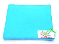Фланелевые (байковые) пеленки (голубая)