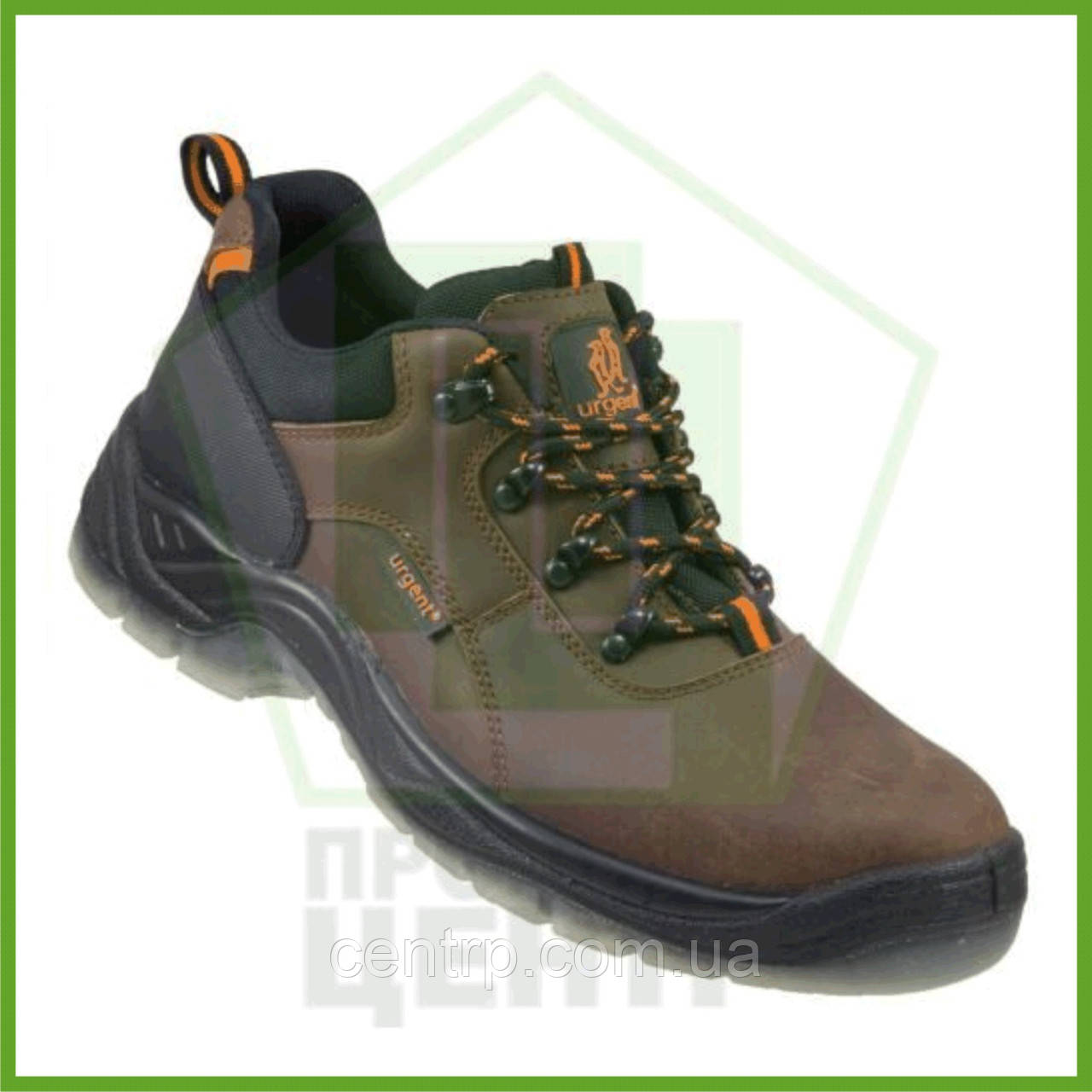 Туфли рабочие кожаные с металлическим носком URGENT 220 S1 (натур.нубук)