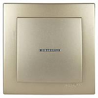 Выключатель с подсветкой Nilson Touran Metallik золото
