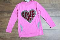 Кофта с паетками для девочек 8-10-12,16 лет Цвет:салатовый, серый, малиновый