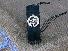 Кожаный браслет на руку РЫБЫ, ручная работа, ювелирная бижутерия