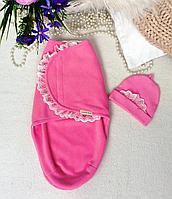 Пеленка-конверт (РОЗОВАЯ ) на липучке теплая