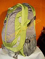 Рюкзак туристический городской спортивный Kaixio 22007 40 литров серо-салатовый, фото 1