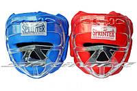 Шлем боксёрский закрытый, с маской. Кожа.