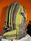 Рюкзак туристический городской спортивный Kaixio 22007 40 литров серо-салатовый, фото 3