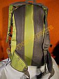 Рюкзак туристический городской спортивный Kaixio 22007 40 литров серо-салатовый, фото 5