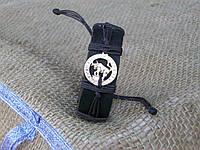 Кожаный браслет на руку ТЕЛЕЦ, ручная работа, ювелирная бижутерия