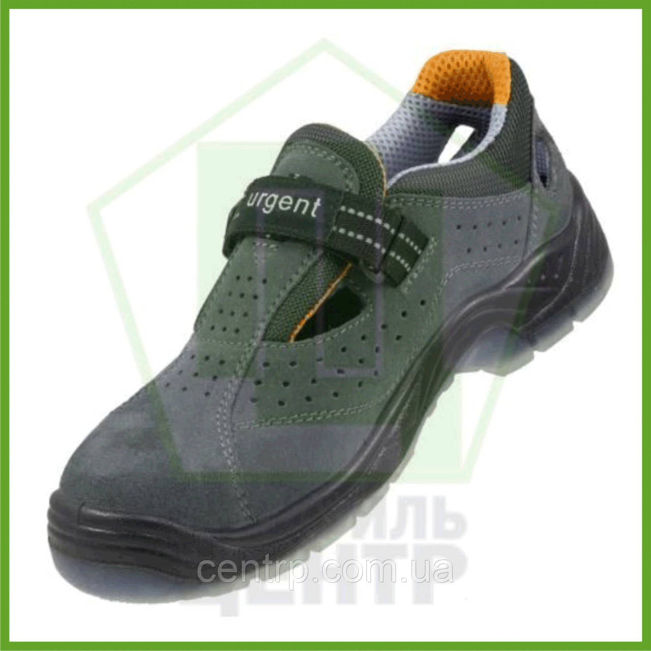 Сандали рабочие кожаные с металлическим носком URGENT 315 S1 TPU (натур.замша)