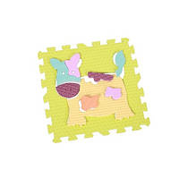 "GB-M129А2. Детский коврик-пазл  для детей ""Веселый зоопарк"", 92х92 см. Baby Great"