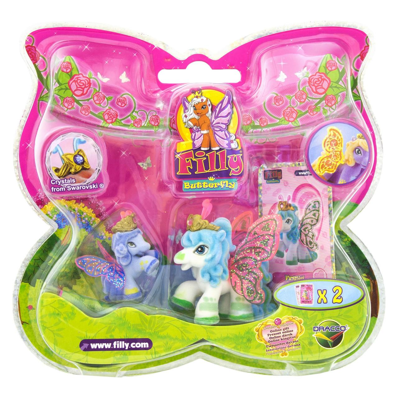 FILLY Butterfly Glitter Freya з кристалами Swarovski (Филли Блестящие бабочки - Фрейя и малыш )