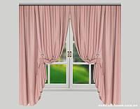 Комплект штор Лён Olympia Розовый