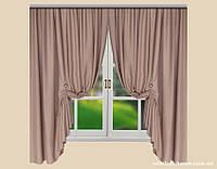 Комплект штор Лён Olympia Светло-коричневый с розоватым отливом