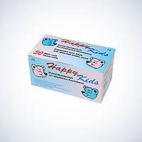 Маска защитная детская HAPPY KIDS 3-слойная с ушными петлями (50 шт/уп), AMPri